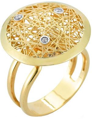 Reiss I.Reiss Round Nest Diamond Gold Cocktail Ring