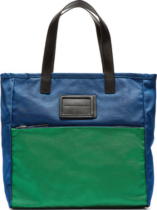 Marc by Marc Jacobs Blue & Green Nylon Take Me Tote