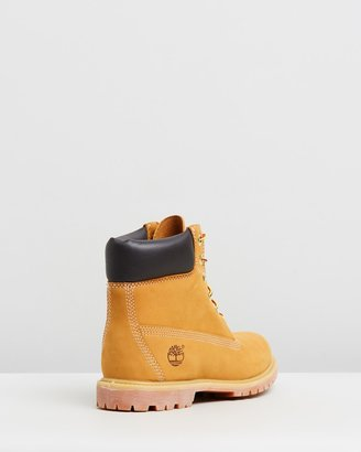 Timberland Women's Neutrals Lace-up Boots - Womens 6-Inch Premium Lace Up Boots - Size 9 at The Iconic