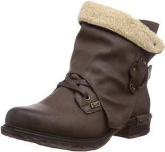 Rieker Womens 98442-26 Warm Lined Classic Boots Half Length Brown Braun (Kastanie/Kastanie/Beige / 26) Size: 4 UK