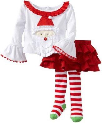 Mud Pie Baby-Girls Infant Santa Ribbo...