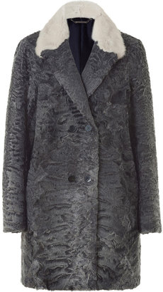 Jil Sander Silver Grey Persian Lamb Coat