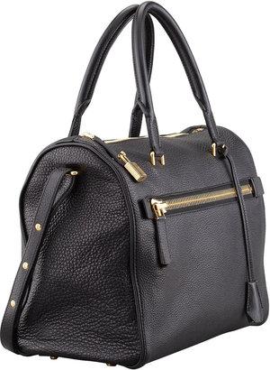 Tom Ford Frea Pebbled Satchel Bag, Black