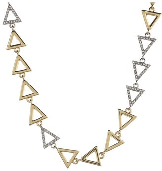 Juicy Couture Open Triangle Strand Necklace (Gold) - Jewelry