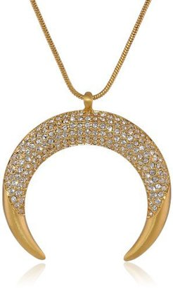 "Vince Camuto Pave Gold Pendant Necklace, 28"""