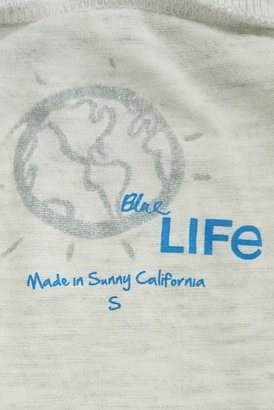 Blue Life Thumbhole Crop Top in Silver Silk Sheets