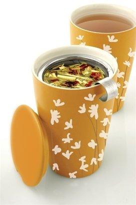 Tea Forte kati insulated ceramic cup orange