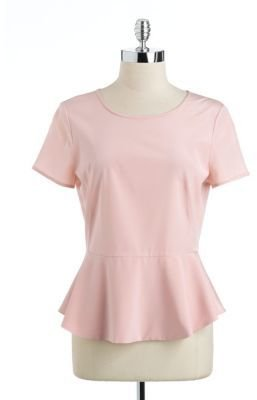 DKNY Short-Sleeved Peplum Blouse