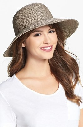 Women's Eric Javits 'Squishee Iv' Wide Brim Hat - Brown $198 thestylecure.com