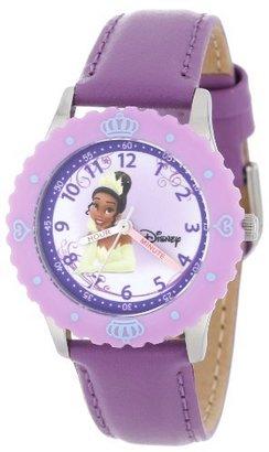 Disney Kids' W000046 Multi-Princess Stainless Steel Time Teacher Watch