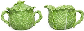 Tory Burch Lettuce Ware Lidded Sugar Pot & Creamer