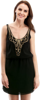 Eight Sixty Gold Embellished Dress