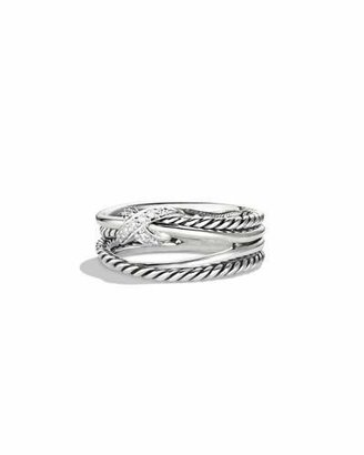 David Yurman X Crossover Ring with Diamonds $375 thestylecure.com