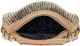 Diane von Furstenberg Sutra Knit Leather Zip Hobo