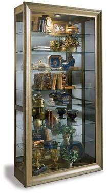 Philip Reinisch Co. Vermeer Lighted Curio Cabinet Philip Reinisch Co.