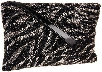 Badgley Mischka Adele Clutch (Black/Silver) - Bags and Luggage