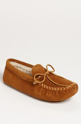 c2751183fa2b4e Minnetonka Suede Moccasin with Faux Fur Lining