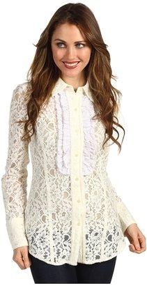 Stetson Cotton Lace Western Blouse (White) - Apparel