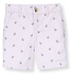 Janie and Jack Anchor Stripe Canvas Short
