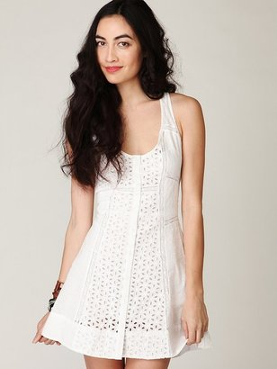 Free People Center of Attention Eyelet Dress