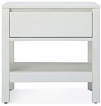 JCPenney Linear White Bedroom Nightstand