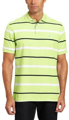 Nautica Men's Pique Striped Deck Polo Shirt