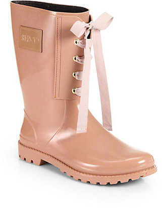 RED Valentino Lace-Up Rain Boots