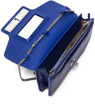 Proenza Schouler PS11 Smooth Calf Leather Chain Wallet in Royal Blue