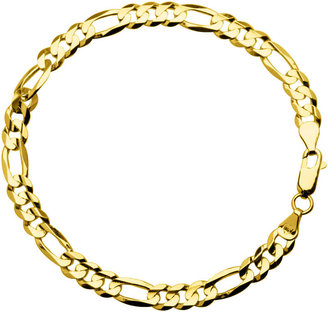 JCPenney FINE JEWELRY 10K Yellow Gold 8 Figaro Bracelet