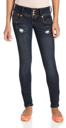 Dollhouse Juniors Rock Wide Waistband Skinny Jean