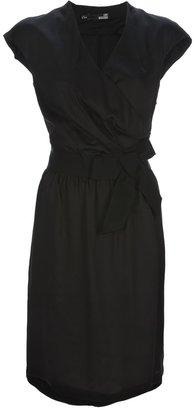 Love Moschino Wrap around crepe dress