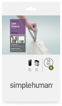 Simplehuman Code C Custom Fit 10/12-Liter Can Liners (20-Pack)