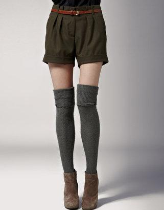 Calvin Klein Fluffy Over The Knee Socks