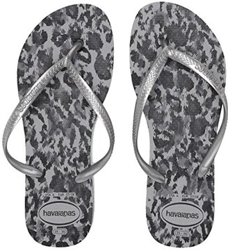 Havaianas Slim Animals Flip Flops (Ballet Rose) Women's Sandals