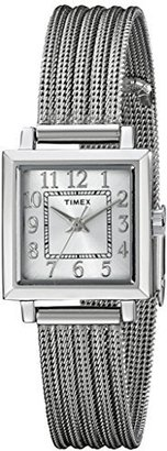 Timex Women's T2P4399J Main Street Modern Minis Silver-Tone Watch $59.95 thestylecure.com