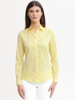 Banana Republic Fitted Non-Iron Sateen Shirt