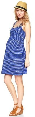Gap Watercolor stripe tank dress
