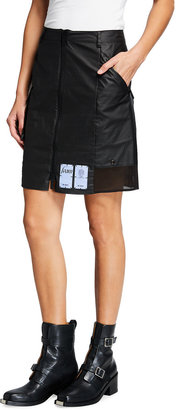 Mcq Swallow Zip-Front Utility Skirt