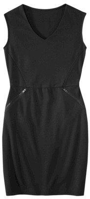Mossimo Petites Zipper-Pocket Ponte Dress - Assorted Colors