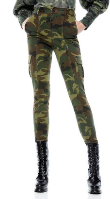 Alice + Olivia Jeans Keith Camo Slim Cargo Pants