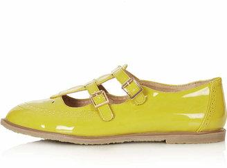 Topshop Margate double buckle geek shoes