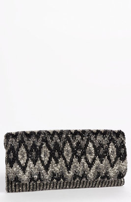 Moyna Beaded Foldover Clutch