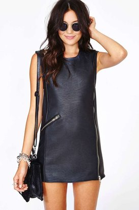 Nasty Gal UNIF Disobey Moto Dress