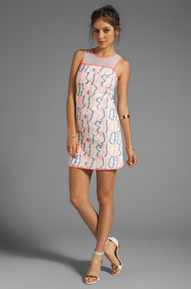 Milly Scribble Tweed Avery Shift Dress