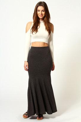 Boohoo Anna Jersey Fishtail Maxi Skirt