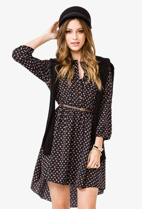 Forever 21 Lace Yoke Floral Dress