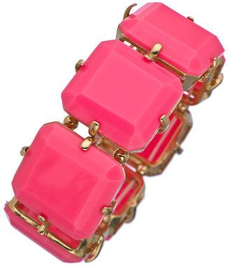 Blu Bijoux Pink Wide Stretch Bracelet