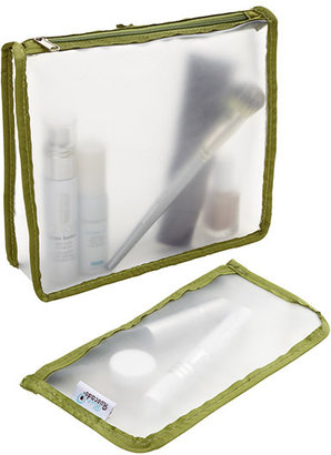 Container Store Green Zippered Travel Pouches