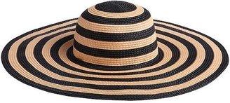 Rachel Zoe Straw Striped Sun Hat