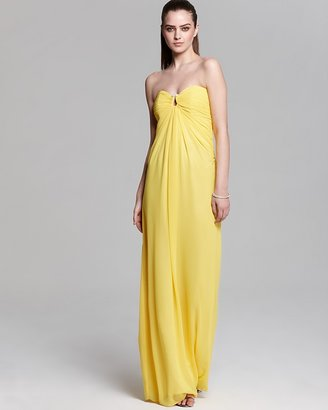 Laundry by Shelli Segal Strapless Gown - Ruched Top Chiffon